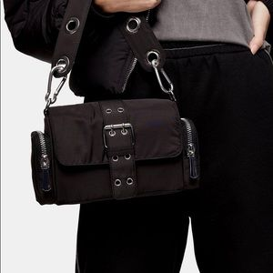 Topshop Mini Nylon Shoulder Bag